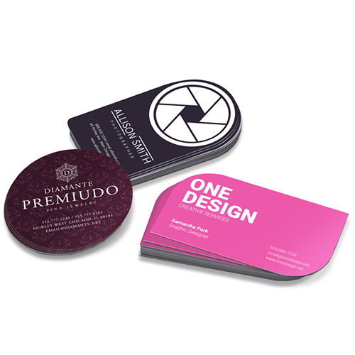 Die cut business card printing custom shapes 48hourprint die cut business cards colourmoves